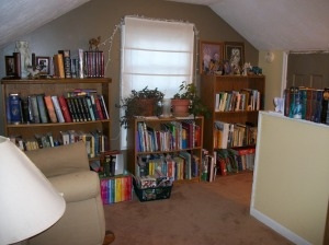 The reading corner...favorite place to write.