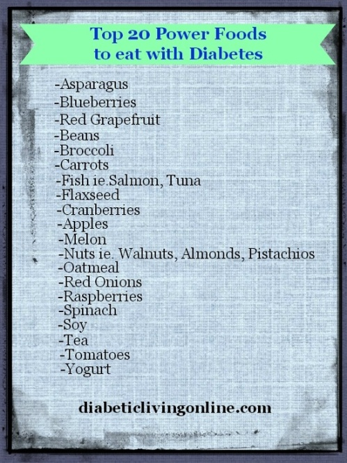 Top 20 foods for diabetics